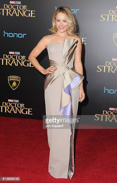 Actress Rachel McAdams arrives at the Los Angeles Premiere 'Doctor Strange' on October 20 2016 in Hollywood California