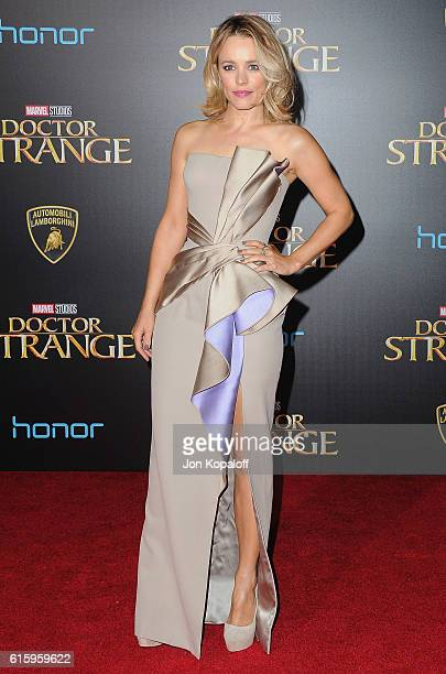 """Actress Rachel McAdams arrives at the Los Angeles Premiere """"Doctor Strange"""" on October 20, 2016 in Hollywood, California."""