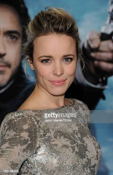 Actress Rachel McAdams arrives at the premiere of Warner Bros Pictures' Sherlock Holmes A Game Of Shadows held at the Regency Village Theatre on...