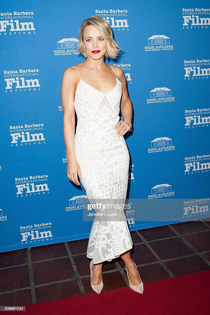 Actress Rachel McAdams arrives at the presentation of the American Riviera Award at the 31st Santa Barbara International Film Festival at the Arlington Theatre on February 5, 2016 in Santa Barbara, California.