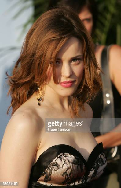 Actress Rachel McAdams arrives to the 2005 MTV Movie Awards at the Shrine Auditorium June 4 2005 in Los Angeles California The 14th annual award show...