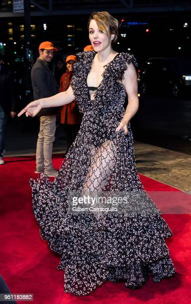 Actress Rachel McAdams arriving to the 'Disobedience' premiere during the 2018 Tribeca Film Festival at BMCC Tribeca PAC on April 24 2018 in New York...