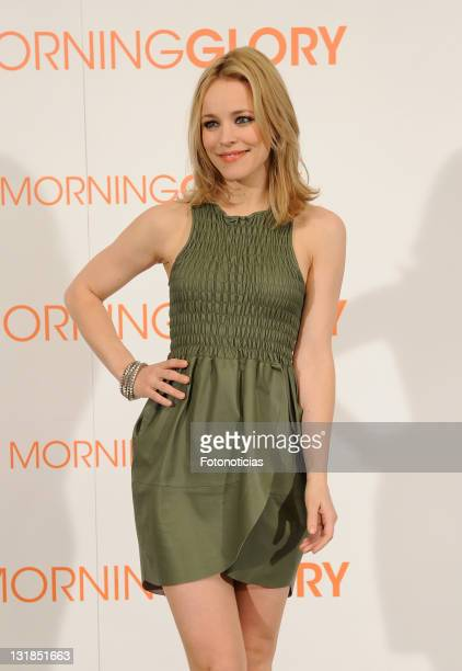 Actress Rachel McAdams attends a photocall for 'Morning Glory' at the Villamagna Hotel on January 13, 2011 in Madrid, Spain.
