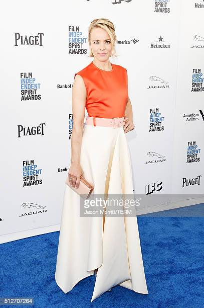 Actress Rachel McAdams attends the 2016 Film Independent Spirit Awards on February 27 2016 in Santa Monica California