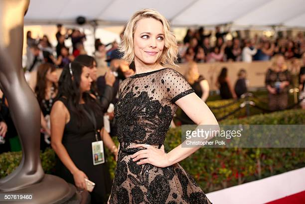 Actress Rachel McAdams attends The 22nd Annual Screen Actors Guild Awards at The Shrine Auditorium on January 30 2016 in Los Angeles California...