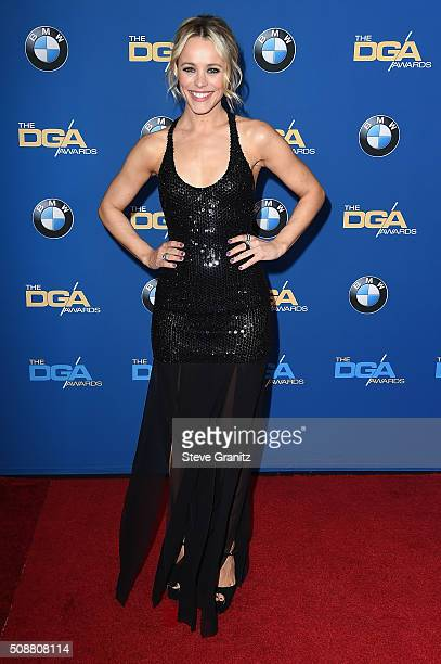 Actress Rachel McAdams attends the 68th Annual Directors Guild Of America Awards at the Hyatt Regency Century Plaza on February 6 2016 in Los Angeles...