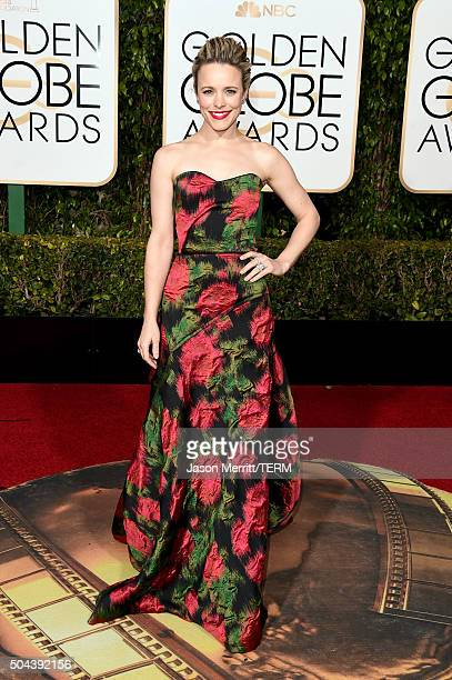Actress Rachel McAdams attends the 73rd Annual Golden Globe Awards held at the Beverly Hilton Hotel on January 10 2016 in Beverly Hills California