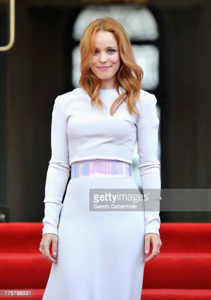 """Actress Rachel McAdams attends the """"About Time"""" world premiere at Somerset House on August 8, 2013 in London, England."""