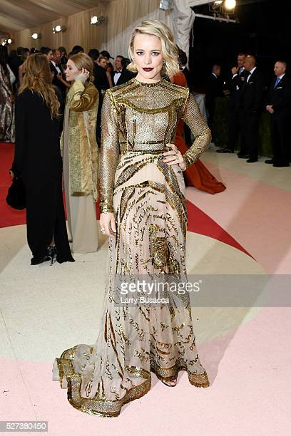 Actress Rachel McAdams attends the Manus x Machina Fashion In An Age Of Technology Costume Institute Gala at Metropolitan Museum of Art on May 2 2016...