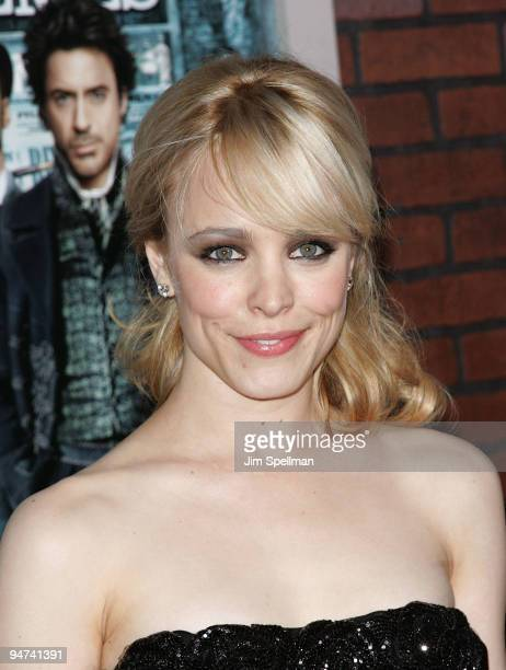 Actress Rachel McAdams attends the New York premiere of 'Sherlock Holmes' at the Alice Tully Hall Lincoln Center on December 17 2009 in New York City