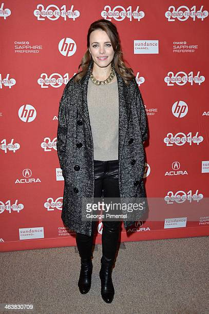 Actress Rachel McAdams attends the premiere of A Most Wanted Man at Eccles Center Theatre during the 2014 Sundance Film Festival on January 19 2014...