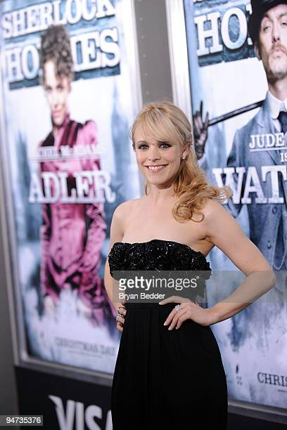 "Actress Rachel McAdams attends the premiere of ""Sherlock Holmes"" at Alice Tully Hall, Lincoln Center on December 17, 2009 in New York, New York."