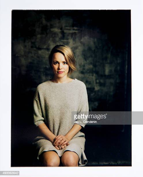 Actress Rachel McAdams from the film 'Spotlight' is photographed on polaroid film for Los Angeles Times on September 25 2015 in Toronto Ontario...