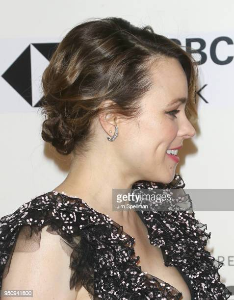 Actress Rachel McAdams hair detail attends the Disobedience premiere during the 2018 Tribeca Film Festival at BMCC Tribeca PAC on April 24 2018 in...