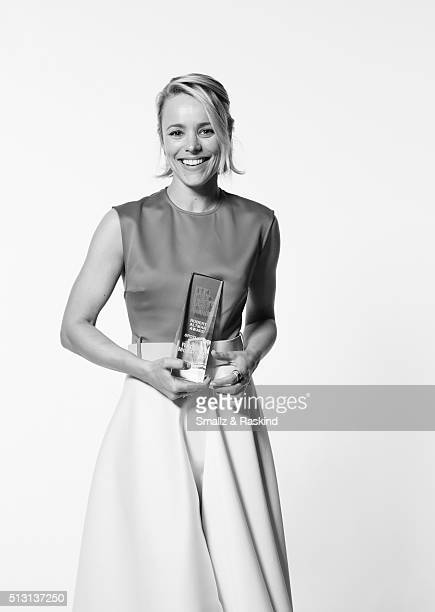 Actress Rachel McAdams poses for a portrait at the 2016 Film Independent Spirit Awards after winning the Robert Altman Award for 'Spotlight' on...