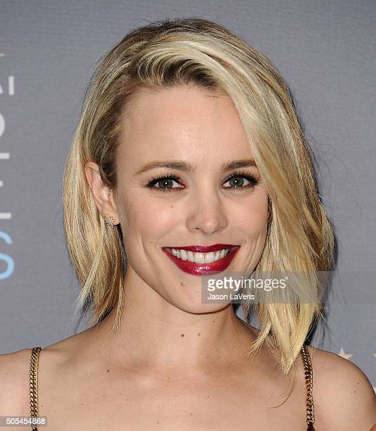 Actress Rachel McAdams poses in the press room at the 21st annual Critics' Choice Awards at Barker Hangar on January 17 2016 in Santa Monica...
