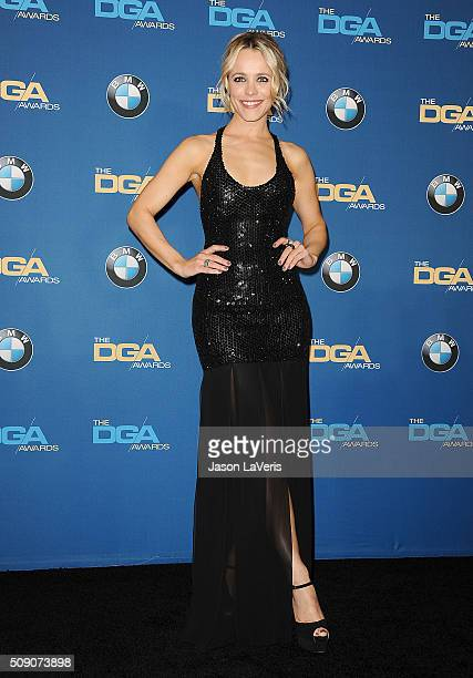 Actress Rachel McAdams poses in the press room at the 68th annual Directors Guild of America Awards at the Hyatt Regency Century Plaza on February 6...