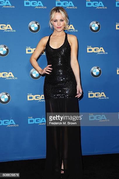 Actress Rachel McAdams poses in the press room during the 68th Annual Directors Guild Of America Awards at the Hyatt Regency Century Plaza on...