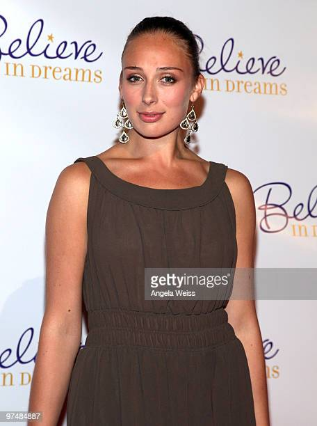 Actress Rachel McDowell attends the 'Believe In Dreams' PreOscar party hosted by Chandler Lutz and Ernest Borgnine at Universal Studios on March 5...