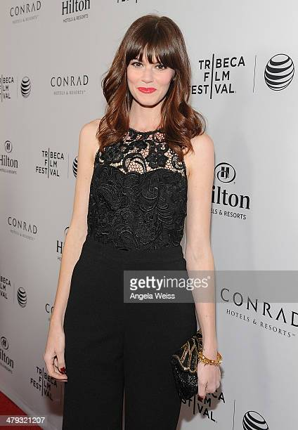 Actress Rachel Melvin arrives at the 2014 Tribeca Film Festival LA Kickoff Reception at The Beverly Hilton Hotel on March 17 2014 in Beverly Hills...