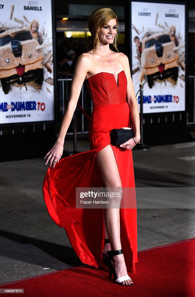 Actress Rachel Melvin arrives at the premiere of Universal Pictures and Red Granite Pictures' 'Dumb And Dumber To' on November 3, 2014 in Westwood, California.