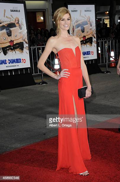 Actress Rachel Melvin arrives for the Premiere Of Universal Pictures And Red Granite Pictures' 'Dumb And Dumber To' held at the Regency Village...