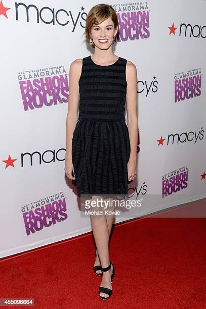 Actress Rachel Melvin attends Glamorama Fashion Rocks presented by Macy's Passport at Create Nightclub on September 9 2014 in Los Angeles California