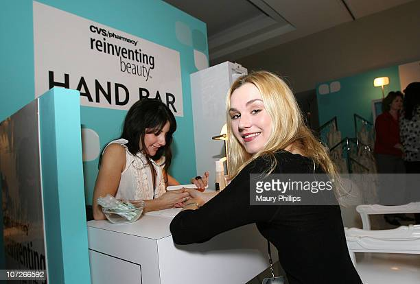Actress Rachel Miner with CVS at the Access Hollywood Stuff You Must Lounge Presented by On 3 Productions at Sofitel Hotel on January 11 2008 in...