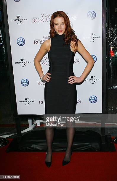 Actress Rachel Nichols arrives at the Los Angeles premiere of Welcome Home Roscoe Jenkins held at the Grauman's Chinese on January 28 2008 in...