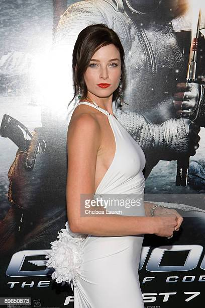 Actress Rachel Nichols arrives at the Los Angeles special screening of GI Joe The Rise Of The Cobra at the Grauman's Chinese Theatre on August 6 2009...
