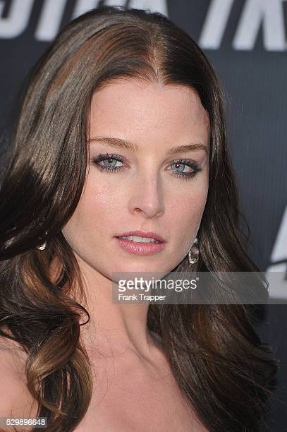 Actress Rachel Nichols arrives at the premiere of Star Trek held at Grauman's Chinese Theater in Hollywood