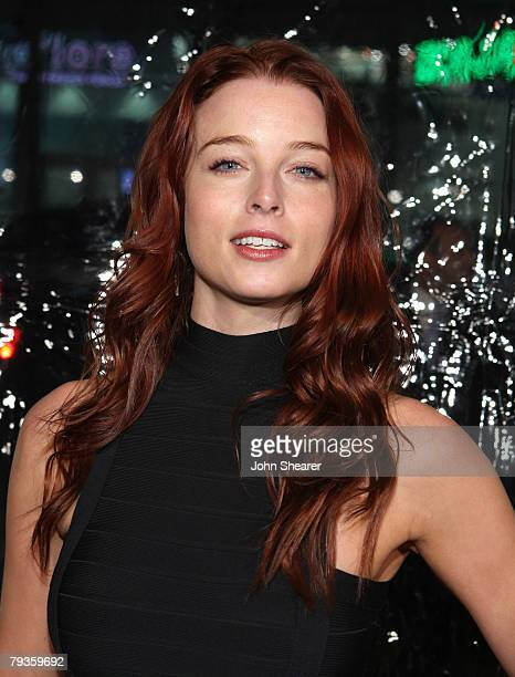 Actress Rachel Nichols arrives to the premiere of Welcome Home Roscoe Jenkins at Grauman's Chinese Theatre on January 18 2008 in Hollywood California