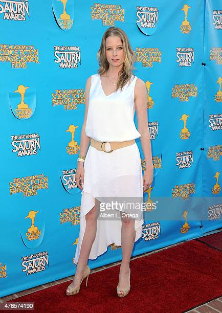 Actress Rachel Nichols attends the 41st Annual Saturn Awards at The Castaway on June 25 2015 in Burbank California