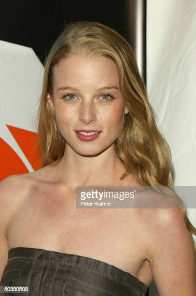 Actress Rachel Nichols attends the after party for the Fox primetime program announcements for 20042005 May 20 2004 in New York City