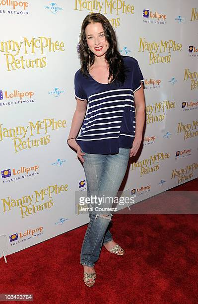Actress Rachel Nichols attends the New York premiere of Nanny McPhee Returns at AMC Loews Lincoln Square 13 on August 17 2010 in New York City