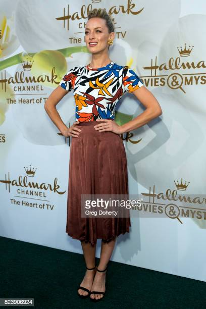 Actress Rachel Skarsten arrives for the 2017 Summer TCA Tour Hallmark Channel And Hallmark Movies And Mysteries on July 27 2017 in Beverly Hills...