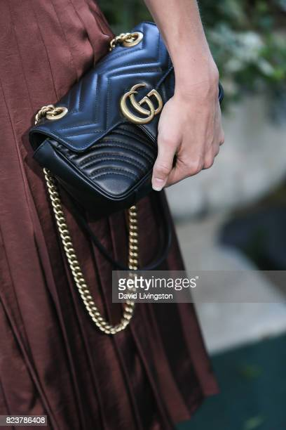 Actress Rachel Skarsten purse detail attends the Hallmark Channel and Hallmark Movies and Mysteries 2017 Summer TCA Tour on July 27 2017 in Beverly...