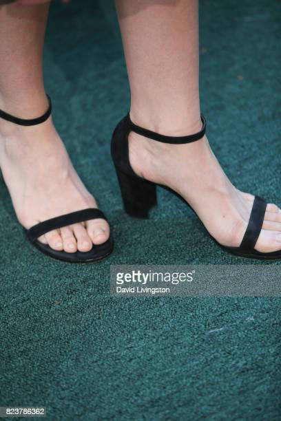 Actress Rachel Skarsten shoe detail attends the Hallmark Channel and Hallmark Movies and Mysteries 2017 Summer TCA Tour on July 27 2017 in Beverly...