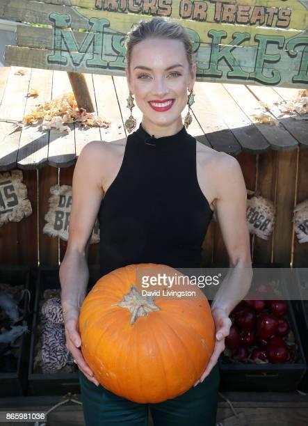 Actress Rachel Skarsten visits Hallmark's 'Home Family' at Universal Studios Hollywood on October 24 2017 in Universal City California