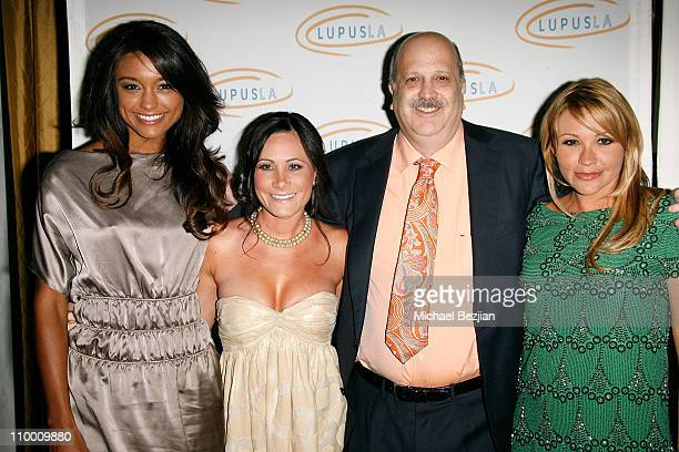 Actress Rachel Smith a guest Dr Daniel J Wallace and actress Nicole Paxson arrive at the Lupus LA's 2008 Orange Ball on May 1 2008 at The Beverly...