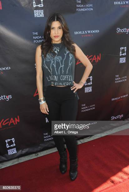 "Actress Rachel Sterling arrives for the Premiere Of Parade Deck's ""Lycan"" held at Laemmle's Ahrya Fine Arts Theatre on August 15 2017 in Beverly..."