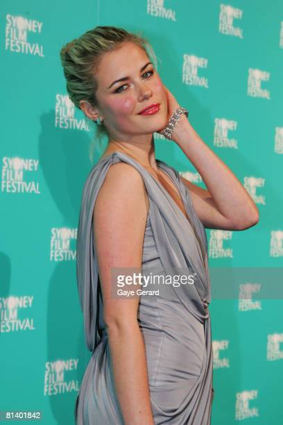 Actress Rachel Taylor attends the opening gala night and premiere of 'Happy-Go-Lucky' during the 55th Sydney Film Festival at the State Theatre on...