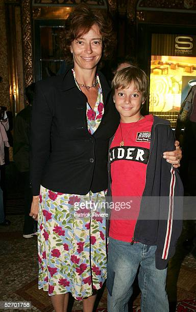 Actress Rachel Ward and her son Joe Brown attend the opening night of Dein Perry's Tap Dogs new show The Dogs Are Back at the State Theatre April 27...