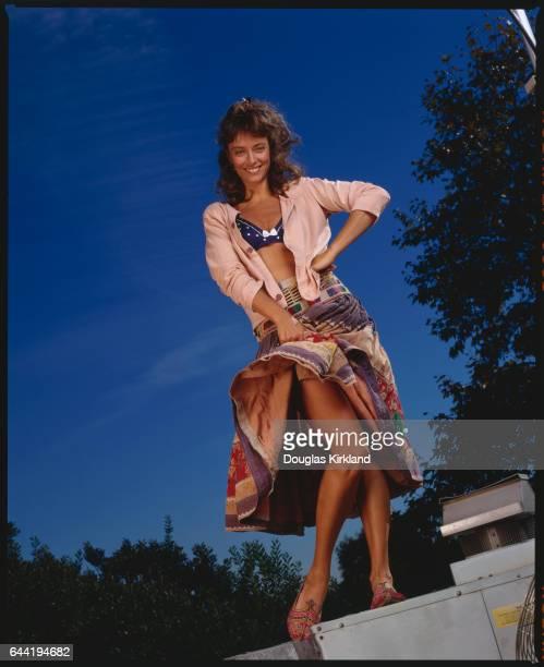 Actress Rachel Ward Lifting Skirt