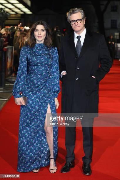 Actress Rachel Weisz and actor Colin Firth attend 'The Mercy' World Premiere at The Curzon Mayfair on February 6 2018 in London England