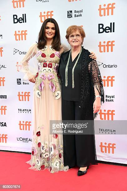 Actress Rachel Weisz and writer Deborah Lipstadt attend the Denial premiere during the 2016 Toronto International Film Festival at Princess of Wales...