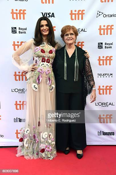 Actress Rachel Weisz and writer Deborah Lipstadt attend the 'Denial' premiere during the 2016 Toronto International Film Festival at Princess of...