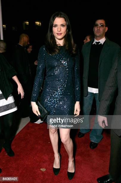 """Actress Rachel Weisz arrives on the red carpet of the Los Angeles premiere of """"The Wrestler"""" at the Academy Of Motion Arts & Sciences on December 16,..."""