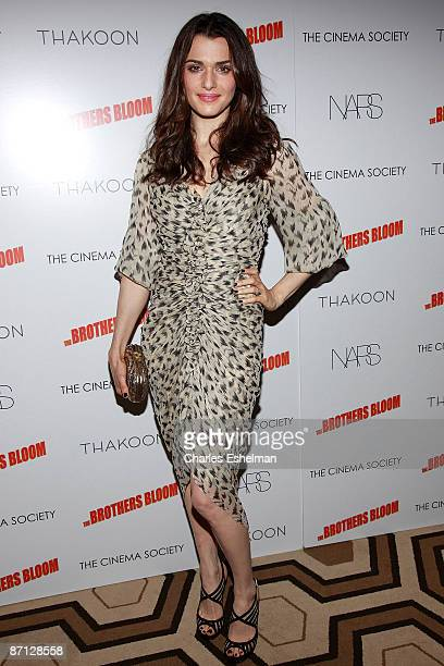 """Actress Rachel Weisz attends a screening of """"The Brothers Bloom"""" hosted by the Cinema Society with Thakoon and Nars at the Tribeca Grand Screening..."""