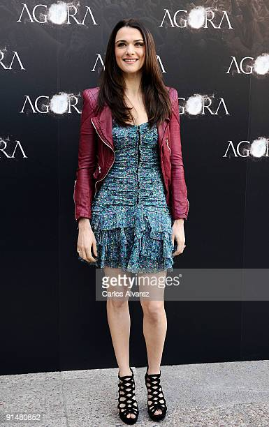 Actress Rachel Weisz attends 'Agora' photocall at Biblioteca Nacional on October 6 2009 in Madrid Spain